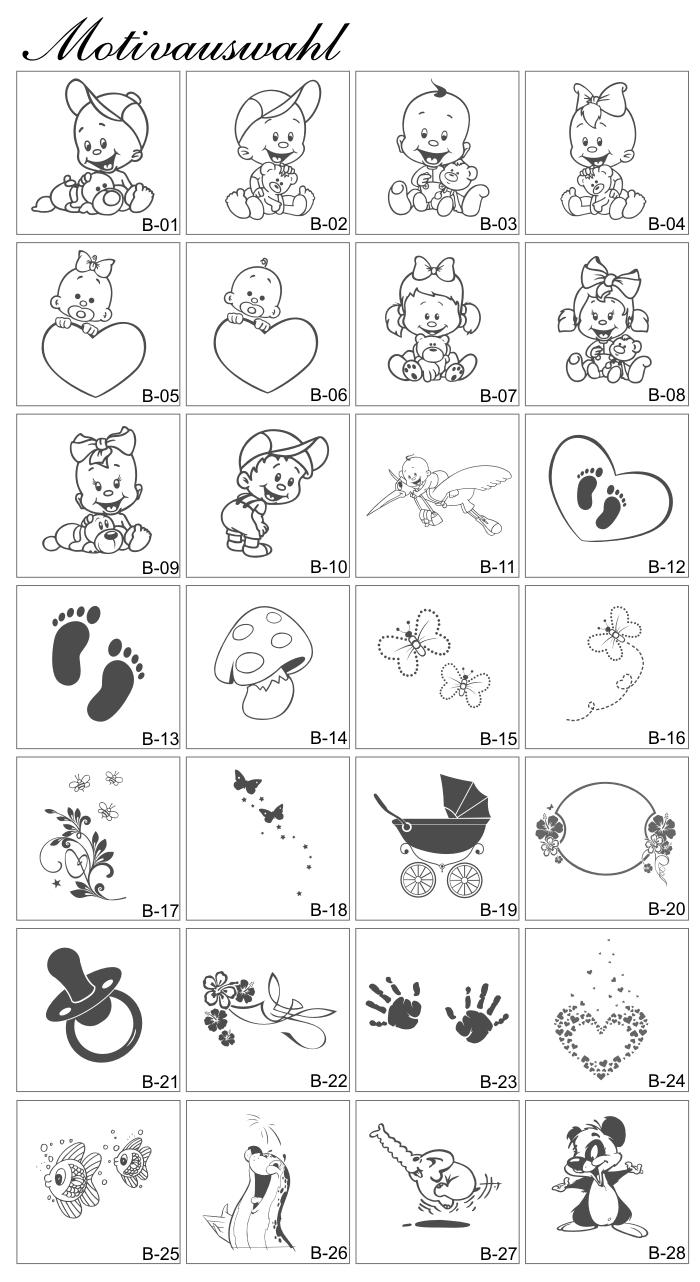 Babyschloss amour serrure Abus avec gravure personnalisable et motif gl11