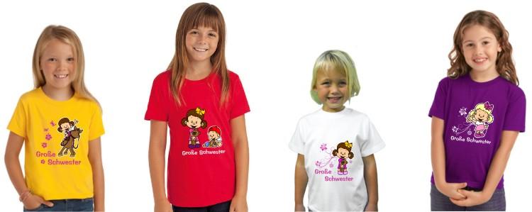 Große Schwester Kinder T-Shirt mit Motiv Mädchen T-Shirt T-Shirt,GGS 2017 02